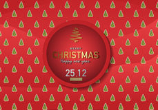 С Рождеством Христовым иллюстрация вектора предпосылки Стоковое фото RF