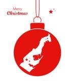 С Рождеством Христовым карта Монако Стоковая Фотография