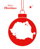 С Рождеством Христовым карта Румыния иллюстрация вектора