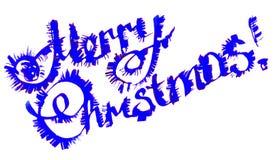 С Рождеством Христовым каллиграфическая литерность Стоковое фото RF