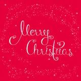 С Рождеством Христовым каллиграфическая литерность Стоковые Фотографии RF