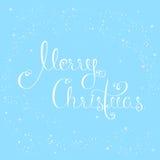 С Рождеством Христовым каллиграфическая литерность Стоковая Фотография RF