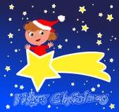 С Рождеством Христовым комета Стоковые Изображения