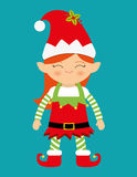 С Рождеством Христовым красочная карточка Стоковое Изображение RF