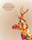 С Рождеством Христовым красочная предпосылка формы северного оленя. иллюстрация вектора