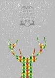С Рождеством Христовым красочная форма северного оленя. иллюстрация штока