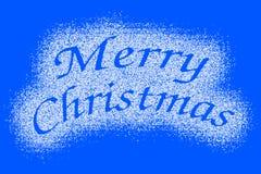 С Рождеством Христовым метка снега на сини иллюстрация штока