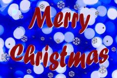 С Рождеством Христовым на запачканной предпосылке Стоковое фото RF