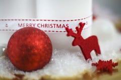 С Рождеством Христовым, олень, украшение стоковые изображения rf
