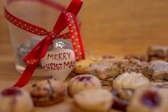 С Рождеством Христовым печенья Стоковое фото RF