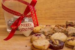 С Рождеством Христовым печенья Стоковая Фотография