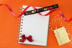 С Рождеством Христовым поздравительная открытка или список целей Стоковое Изображение