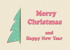 С Рождеством Христовым поздравительная открытка Стоковая Фотография