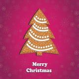С Рождеством Христовым поздравительная открытка Стоковое Изображение RF