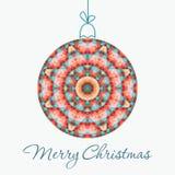 С Рождеством Христовым поздравительная открытка Стоковое Фото
