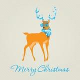 С Рождеством Христовым поздравительная открытка Стоковые Фотографии RF