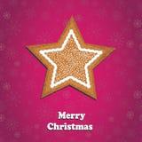 С Рождеством Христовым поздравительная открытка Стоковая Фотография RF