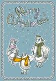 С Рождеством Христовым поздравительная открытка Стоковое Изображение