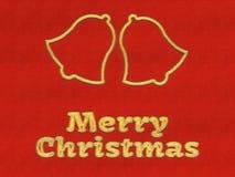 С Рождеством Христовым предпосылка колоколов звона Стоковое фото RF