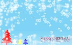 С Рождеством Христовым предпосылка снежинки Стоковое Изображение RF
