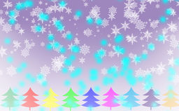 С Рождеством Христовым предпосылка снежинки Стоковое Фото