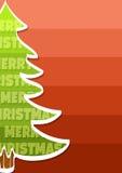 С Рождеством Христовым предпосылка с деревом иллюстрация вектора
