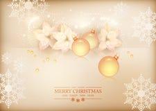 С Рождеством Христовым предпосылка торжества Нового Года Стоковая Фотография RF