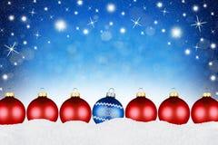 С Рождеством Христовым предпосылка шариков Стоковая Фотография RF