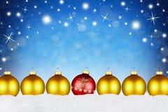 С Рождеством Христовым предпосылка шариков Стоковая Фотография