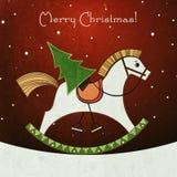С Рождеством Христовым ретро поздравительная открытка стиля Стоковое фото RF