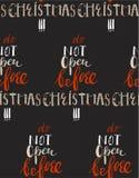 С Рождеством Христовым ретро плакат с литерностью руки, шариком рождества и элементами украшения Эту иллюстрацию можно использова Стоковое Изображение RF