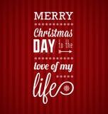 С Рождеством Христовым рождественская открытка иллюстрация вектора