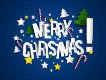 С Рождеством Христовым рождественская открытка Стоковое фото RF