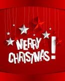 С Рождеством Христовым рождественская открытка Стоковая Фотография RF