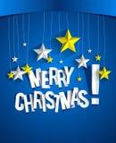 С Рождеством Христовым рождественская открытка Стоковые Фотографии RF