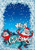 С Рождеством Христовым рождественская открытка Стоковое Изображение