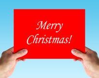 С Рождеством Христовым рождественская открытка стоковые изображения