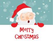 С Рождеством Христовым, Санта Клаус Стоковая Фотография