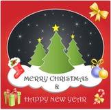 С Рождеством Христовым & счастливый Новый Год Бесплатная Иллюстрация