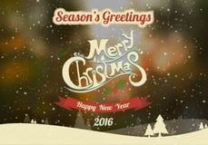 С Рождеством Христовым & счастливый Новый Год 2016 Стоковое Изображение