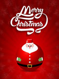 С Рождеством Христовым текст литерности с illus вектора игрушки Санта Клауса Стоковая Фотография RF