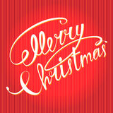 С Рождеством Христовым текст Стоковые Изображения