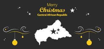 С Рождеством Христовым тема с картой центрально-африканского r иллюстрация штока
