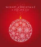 С Рождеством Христовым файл вектора предпосылки EPS10 безделушки. иллюстрация штока