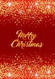 С Рождеством Христовым шаблон праздника с sparkles Стоковые Изображения