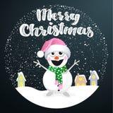 С Рождеством Христовым шарик снега Иллюстрация вектора