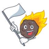 С стилем шаржа талисмана метеорита флага иллюстрация штока