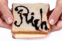 Служат сандвич богатства, который Вы готовы съесть? Стоковое фото RF