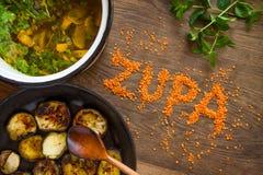 Служат суп, который Стоковое Изображение RF