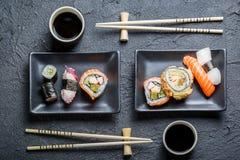 Служат суши для 2, который Стоковые Фото